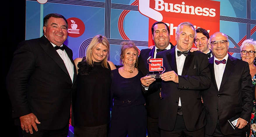 Axis Foundation trustees receive Corporate Foundation Prize at Business Charity Awards