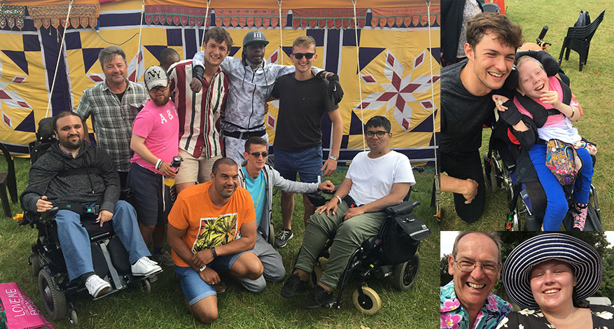 Disabled adults and children enjoy festival experience with help from Festival Spirit