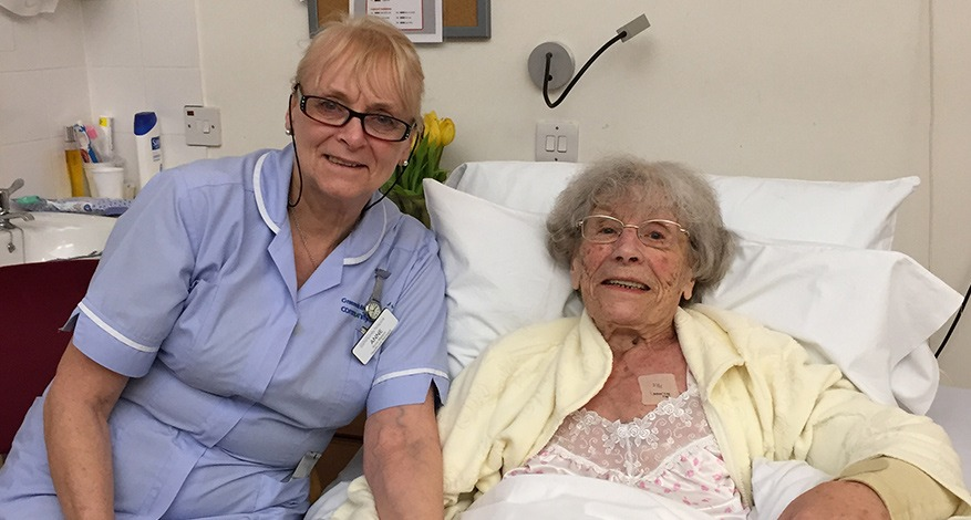 Patient and carer at Greenwich Bexley Community Hospice