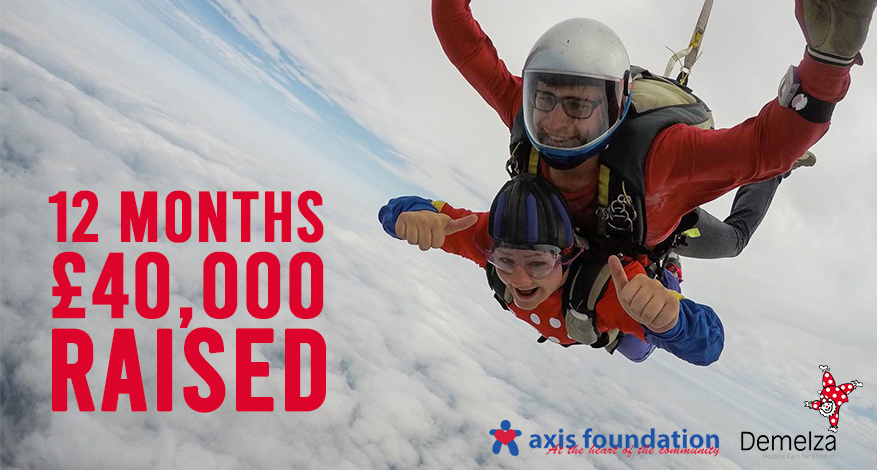Axis Person fundraising for Demelza with skydive