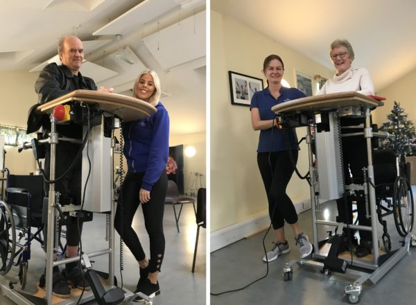 Samson centre patients using electronic standing frames with nurses