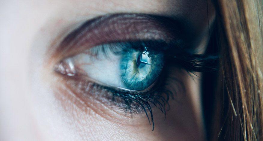 Sophie Hayes survivors of human trafficking blue eye close up