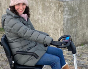 Girl on Scooter for MS Sufferers